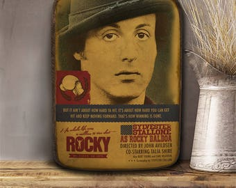Rocky, Balboa, Stallone, Wooden plaque