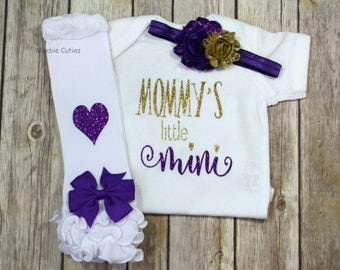 Baby Girl Clothes, Mommy's girl, mommas mini outfit, Mommy's Little Mini Outfit, baby girl outfit, Newborn baby girl take home outfit