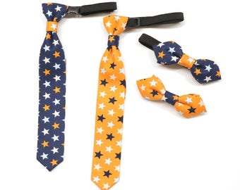 Star bow tie, bow tie for boys, boy neck tie, sporty neck tie