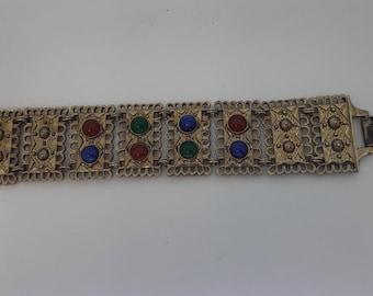 Ecruscan Style Gold Plated Vintage Bracelet