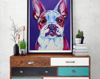 French bulldog, French bulldog art, French bulldog print, Frenchie, Frenchie wall art,  Frenchie decor, Frenchie gift