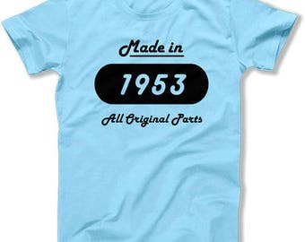 Funny Birthday T Shirt 65th Birthday Gift Ideas For Her Custom Birthday Gift For Him Bday Made In 1953 Birthday Mens Ladies Tee DAT-1521