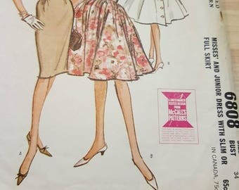 McCalls junior  1960s pattern size 14 #6808
