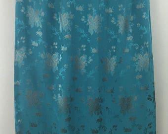 Vintage MONSOON teal silk blend full length skirt UK 12 evening party