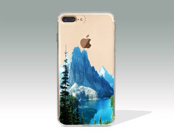 iPhone 7 Case Mountain Clear iPhone 7 Plus Case iPhone 7 Case Clear iPhone 6 Case iPhone 6s Case Silicone iPhone Case Christmas Gift //198
