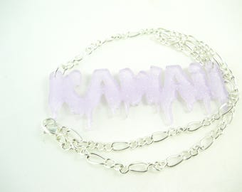 SALE 50% necklace Choker - Kawaii sequin dripping