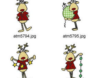 Funny-Rudolph ( 7 Machine Embroidery Designs from ATW ) XYZ17K