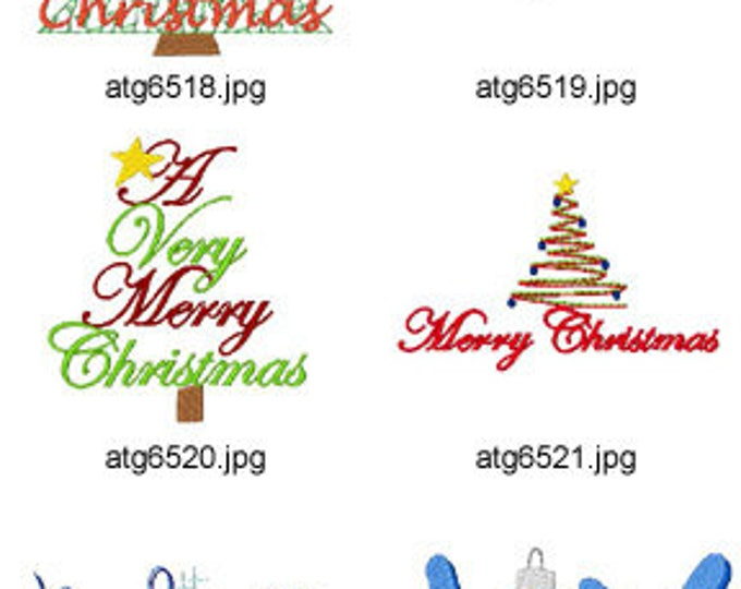 Holiday-Greetings ( 10 Machine Embroidery Designs from ATW ) XYZ17M