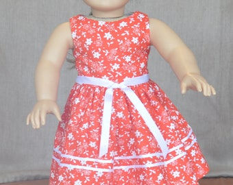 "Cute dress for 18"" dolls including American Girl."