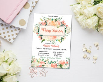 High Quality Peach Baby Shower | Etsy