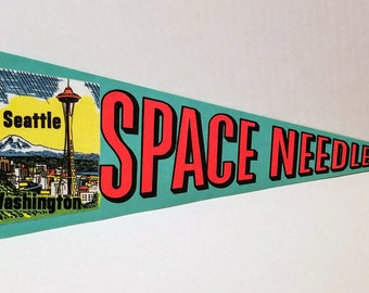Space Needle, Seattle, Washington - Vintage Pennant