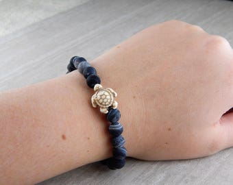 Deep Sea Stone Sea Turtle Bracelet | Sea Turtle Bracelet | Charitable Cause | Beach Bracelet | For Her | For Him | Gift