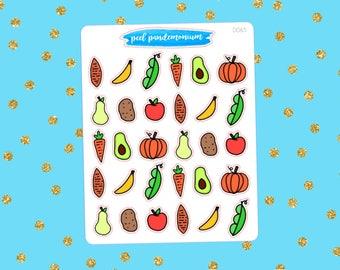 Veggie Doodle Planner Stickers (D065)