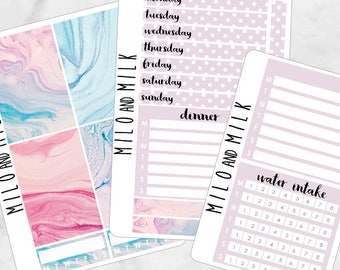 Marble Kit | Bullet Journal + Planner Stickers