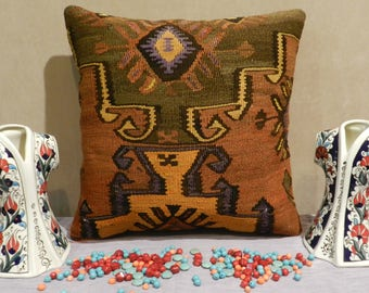 kilim pillow,turkish pillow,handmade pillow,decorativepillow,20x20inch,50x50cm,pillow covers 20 x 20,