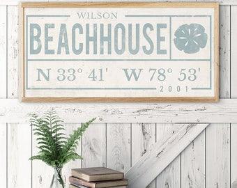 custom name sign last name sign established sign gift beach decor