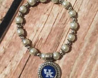 Kentucky, UK, Beaded, Pearl, Bracelet