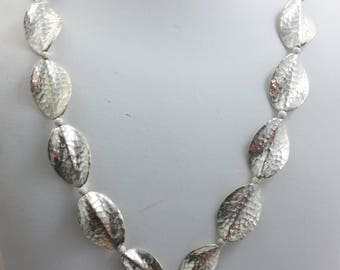 Hill Tribe Thailand 95-97% Silver Pendant Necklace w/ Hill Tribe and Sterling Silver Beads & Clasp