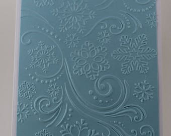 Light Blue Embossed Snowflake Christmas Card
