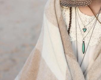 Emerald crystal necklace, boho jewelry, emerald jewelry, boho minimalist, boho kids, minimalist jewelry, minimalist necklace crystal jewelry