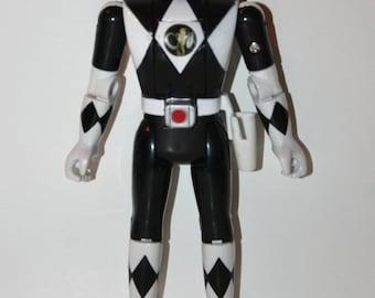 RARE MMPR Power Rangers Auto Morphin Flip Head Zack Black Action Figure VHTF Bandai 1993