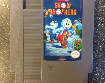 Snow Brothers NES Nintendo Entertainment System Vintage Cartridge Reproduction Game