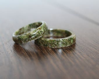 Cannabis Resin Ring - Medicinal Marijuana Advocacy Reefer Madness 420 Accessory Hashish Pot Plant Hippie Stoner Wild and Free Open Minded
