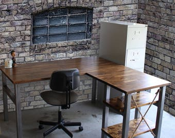 L Shaped Desk Etsy
