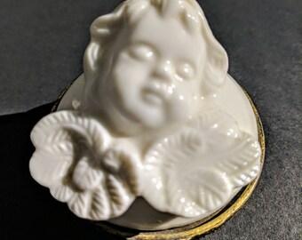 Angel trinket holder/ Angel/ White angel/ Vintage angel/ Angel decor/ Angel home decor/ Vintage angel decor/ Ceramic angel/ Porcelain angel