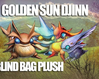 Golden Sun Djinn Plush Blind Bags