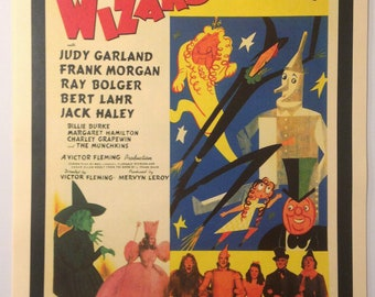 Wizard of Oz Vintage Movie Poster Print Reproduction