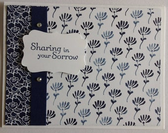 Sharing in Your Sorrow Handmade Greeting Card