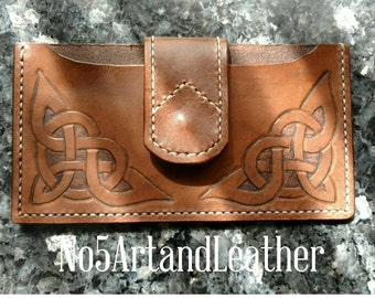 Leather Phone Case, Leather Carved Phone Case, Leather Case, Phone Case Holster, Phone Holster, Cell Phone Case, Phone Case