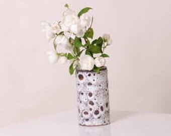 Working ceramic vase handmade french vintage