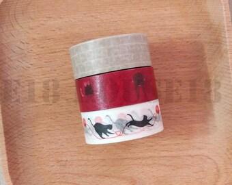 Washi Tape Masking Tape Set of 3 Rolls