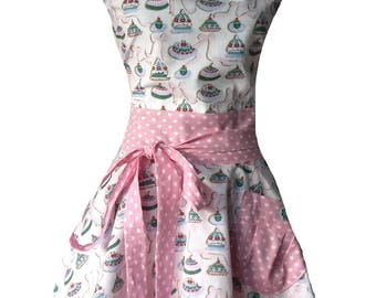 "Apron woman retro or vintage ""cakes"""