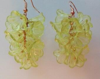 """Earrings earrings earrings """"cooling down with lemon lemonade"""" flowers kwiaty flowers"""
