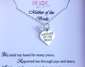 Beautiful 925 Silver Mother of the Bride Necklace/ Mother of the Bride Gift