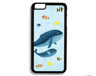 Whale Phone Case, Tropical Fish iphone Case, Samsung Phone Case, Phone Case, iphone Case, iphone 5 SE 6 7 8 X, Samsung Galaxy S7 S5 S6 S8,