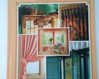 Creative Window Treatments: Forty-Five Styles Step-By-Step Hardcover Book 1992