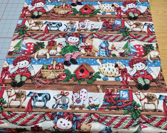 Christmas Toys on Shelves Cotton Fabric