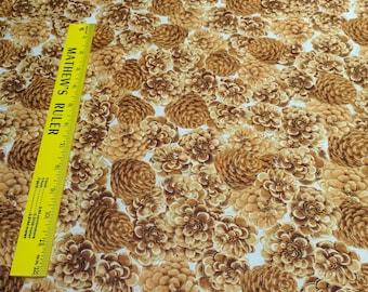 Autumn Fauna-Pinecones Cotton Fabric Designed by Maria Kalinowski for Kanvas Studios