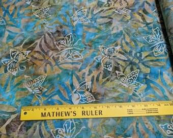 Emerald Forest Butterflies Batik Cotton Fabric (B26252) from Michael Miller Fabrics