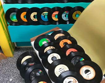 """30 Vintage 45 RPM 7"""" Vinyl Records from 1972 to 1980 - Fleetwood Mac, Elton John, Billy Joel and Many More! Full List in Description :)"""