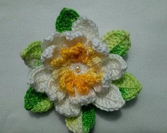 Crochet Lotus Flower Set of 3 lotus flowers/Appliques/Lotus Flower Appliques/