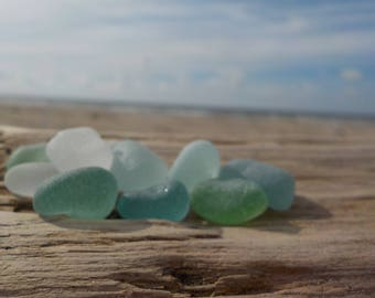 """10 Genuine Perfectly smoothed round Genuine Sea glass-Thick-Size 0,6-0,8""""- Jewelry quality- Ring, Earrings and Pendant size#J87#"""