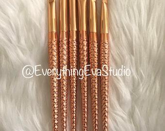 6 Piece Mermaid Makeup Brush Set (For Eyes)