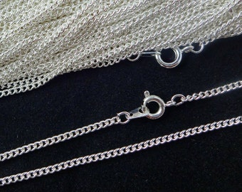Sterling Silver Plated Necklace Curb Chain 16 Inch 4PC 10PC