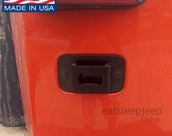 Jeep JK wrangler license plate delete plug bottle opener Made in USA