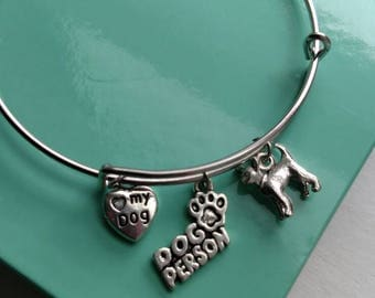 Chihuahua Dog Person Charm Bracelet